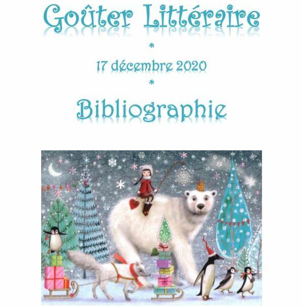 Bibliographie goûter littéraire décembre 2020
